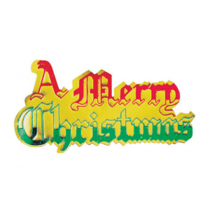 Culpitt Decoration / Paper Motto - A Merry Christmas - Red, Gold & Green (Pack of 100)