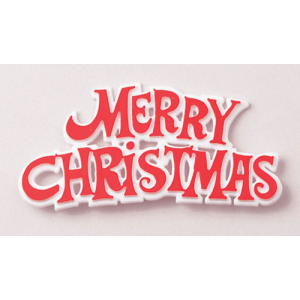 Culpitt Decoration / Motto - Merry Christmas - Red & White (Pack of 100)