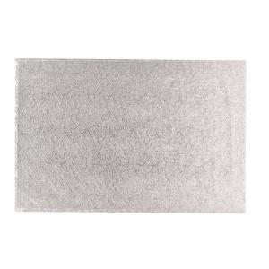 """Cake Board Hardboard - Oblong - Silver - 14"""" x 12"""" (Pack of 5)"""