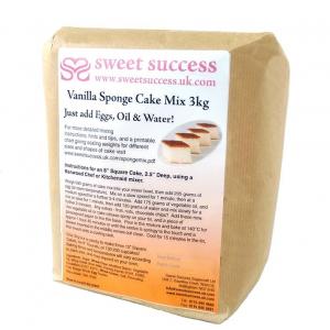 Sweet Success Vanilla Sponge Cake Mix - 3kg