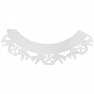 PME Decorative Lace Cupcake Wrappers - Dove - White (Pack of 12)