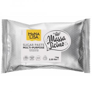 Massa Ticino by Mona Lisa Multi-Purpose Sugar Paste - White (1kg)