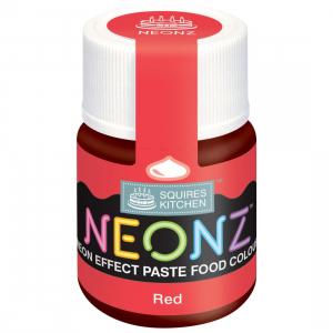 Squires Kitchen Neonz Paste Colour - Red (20g)