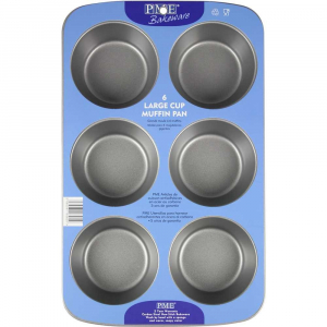 PME Bakeware - Non-Stick 6 Cup Muffin Pan - Large