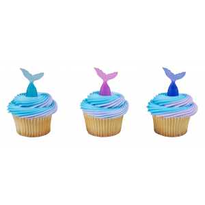 DecoPac Cake Pick Decoration - Mermaid Tails (Pack of 144)