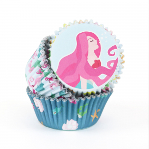 PME Foil Lined Cupcake Cases - Mermaid (Pack of 60)