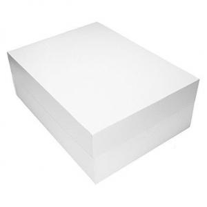 "White Cake Box Base & Lid - 16"" x 12"""