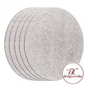 """Cake Board Drum - Oval - Silver - 10"""" x 8"""" (Pack of 5)"""