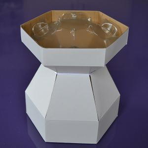Purple Cupcakes - Cupcake Bouquet Box - White