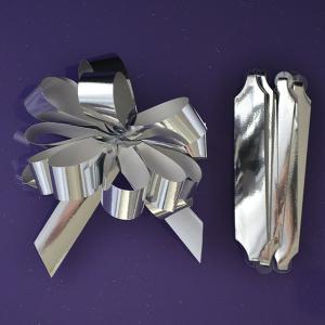 Purple Cupcakes Quick Pull Bow - Metallic Silver