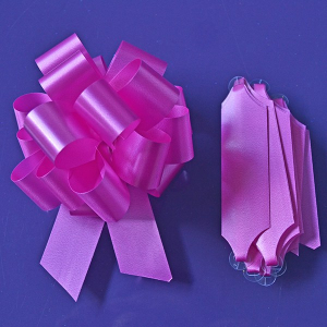 Purple Cupcakes Quick Pull Bow - Cerise