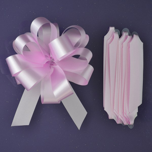 Purple Cupcakes Quick Pull Bow - Pale Pink