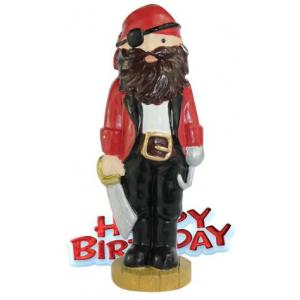 Anniversary House Cake Decoration - Happy Birthday Pirate