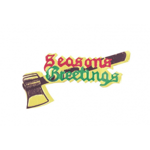 Culpitt Decoration / Paper Motto - Seasons Greetings with Axe (Pack of 100)