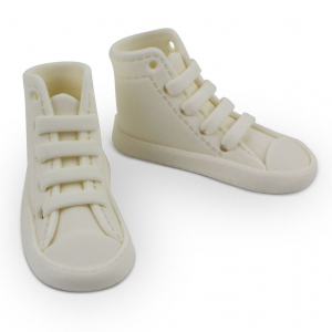 PME Handcrafted Sugar Decoration - High Cut Sneaker - White