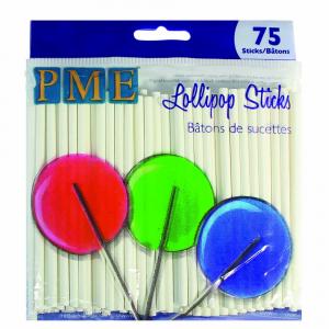 "PME Lollipop Sticks - 9.5cm / 3.7"" (Pack of 75)"