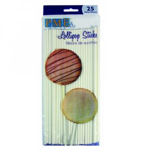 "PME Lollipop Sticks - 20cm / 7.9"" (Pack of 25)"