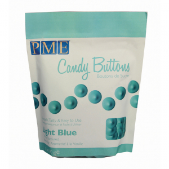 PME Candy Buttons - Vanilla - Light Blue (340g)