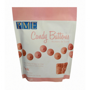PME Candy Buttons - Vanilla - Pink (340g)
