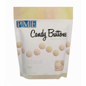 PME Candy Buttons - Vanilla - White (340g)