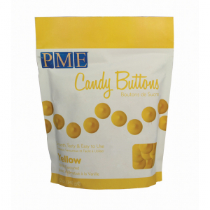 PME Candy Buttons - Vanilla - Yellow (340g)