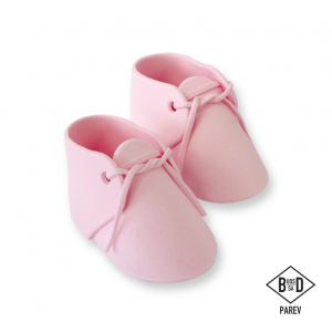 PME Handcrafted Sugar Decoration - Baby Bootees - Pink