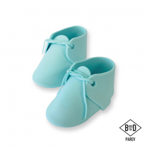 PME Handcrafted Sugar Decoration - Baby Bootees - Blue