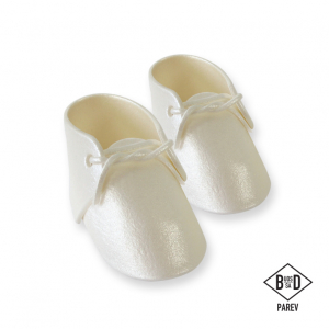 PME Handcrafted Sugar Decoration - Baby Bootees - Pearl