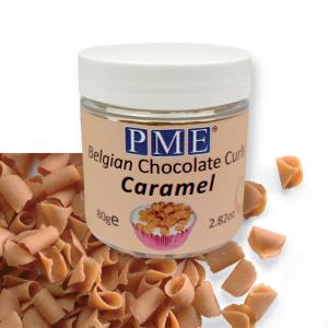 PME Belgian Chocolate Curls - Caramel (85g)