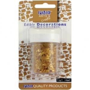 PME Glitter Flakes - Gold (7g)