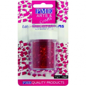 PME Glitter Flakes - Red (7g)