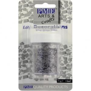 PME Glitter Flakes - Silver (7g)