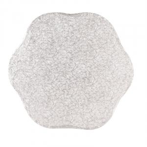 "Cake Board Drum - Petal - Silver - 10"""