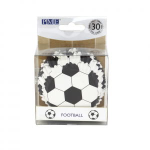 PME Foil Lined Cupcake Cases - Football (Pack of 30)