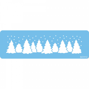 Jem Stencil - Christmas Forest