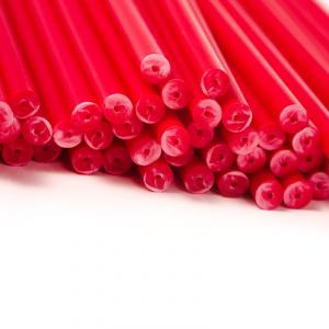 Plastic Lollipop Sticks - Red - 150mm (Pack of 50)