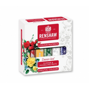 Renshaw Flower and Modelling Paste Mixed Colours Box - 5 x 100g