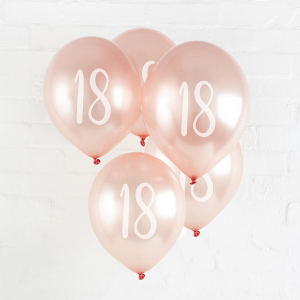 Hootyballoo Number Balloons - Rose Gold 18