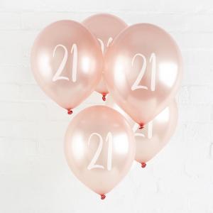 Hootyballoo Number Balloons - Rose Gold 21