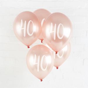 Hootyballoo Number Balloons - Rose Gold 40