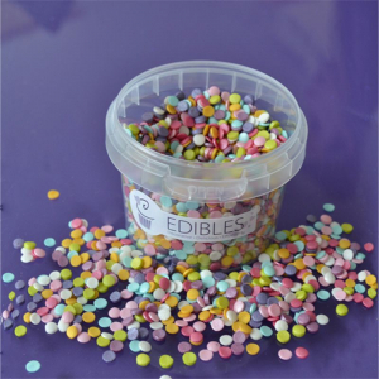 Purple Cupcakes Shimmer Confetti - Rainbow (70g)