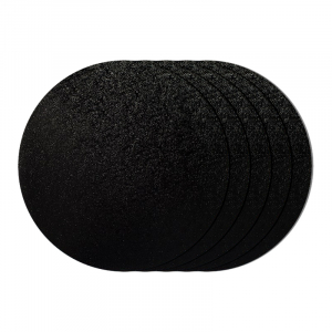 "Cake Board Drum - Round - Black - 10"" (Pack of 5)"