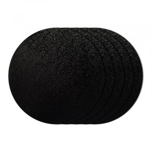 "Cake Board Drum - Round - Black - 12"" (Pack of 5)"