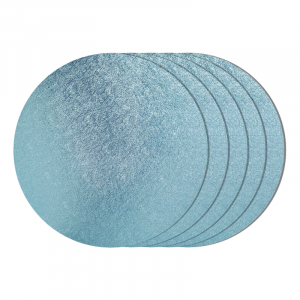 """Cake Board Drum - Round - Baby Blue - 8"""" (Pack of 5)"""