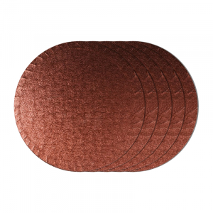 """Cake Board Drum - Round - Chocolate Brown - 12"""" (Pack of 5)"""