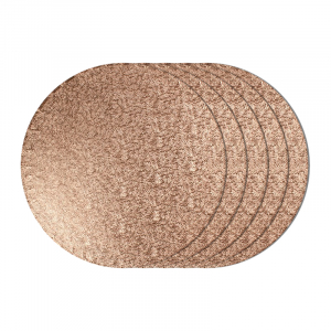 """Cake Board Drum - Round - Copper - 12"""" (Pack of 5)"""