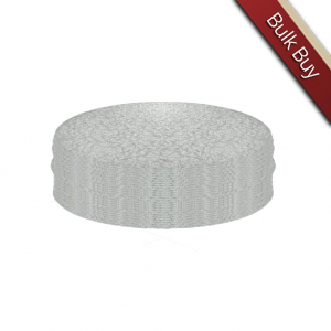 """Single Thick Turned Edge Cake Cards - Round - Silver - 14"""" (Pack of 25)"""