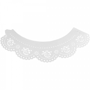 PME Decorative Lace Cupcake Wrappers - Roses - White (Pack of 12)