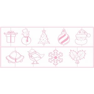 KitchenCraft Christmas Icing Embossers (Set of 9)