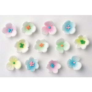 Culpitt Piped Sugar Flowers - Waterlily Blossoms - Assorted (Box of 1000)